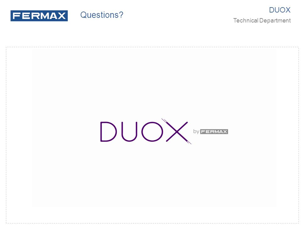DUOX Technical Department Questions?