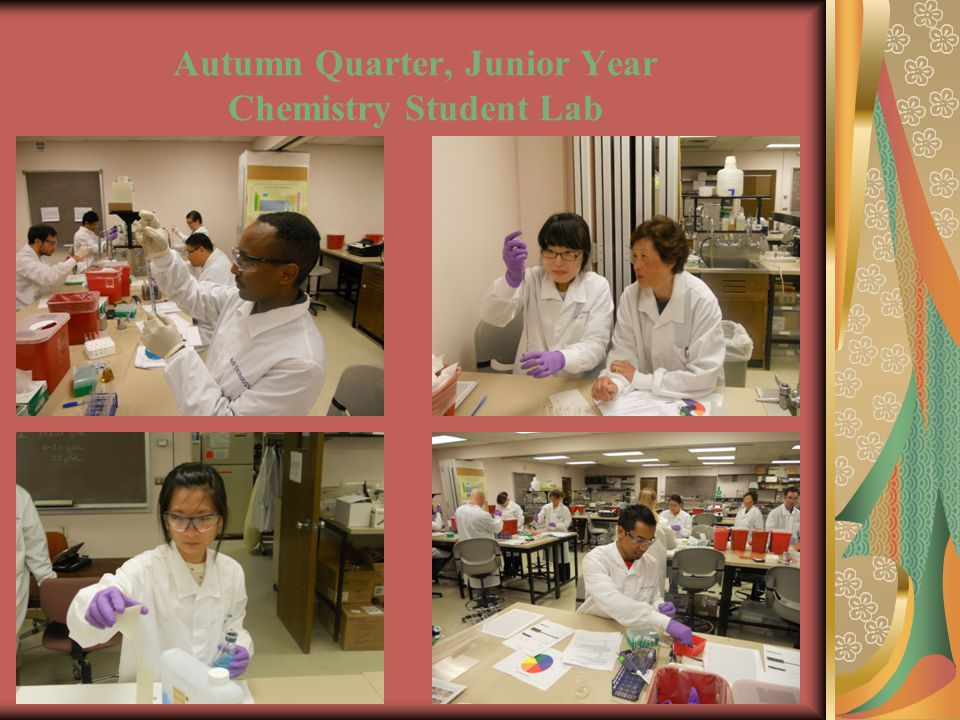 Autumn Quarter, Junior Year Chemistry Student Lab