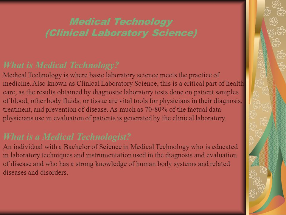 What do Medical Technologists do.