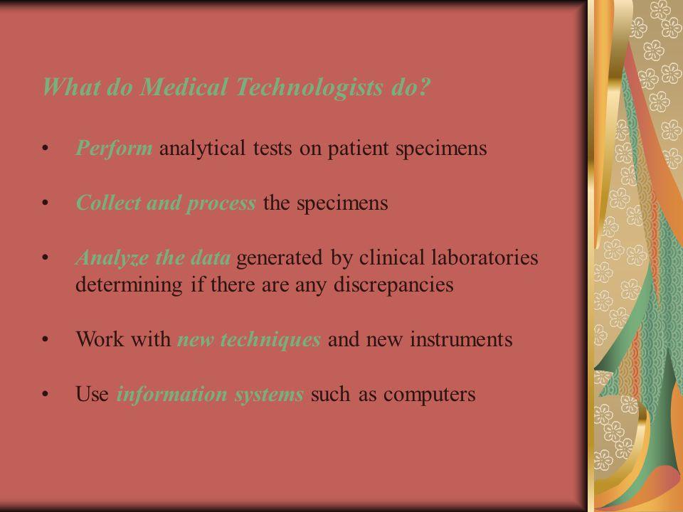 Med Tech Senior Year Clinical Rotations
