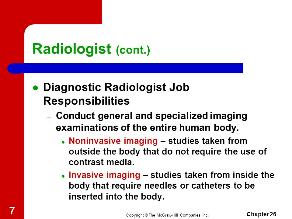 Chapter  Radiology Health Care Science Technology Copyright  The