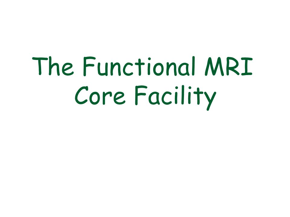 The Functional MRI Core Facility