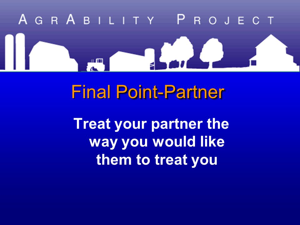 Point-Partner Final Point-Partner Treat your partner the way you would like them to treat you