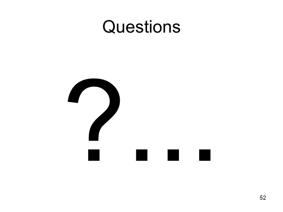52 Questions ?...