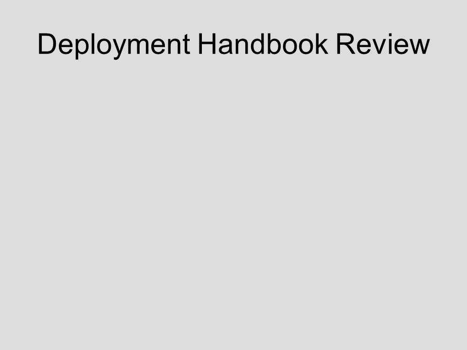 Deployment Handbook Review