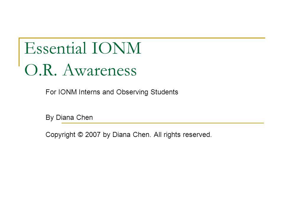 Essential IONM O.R.