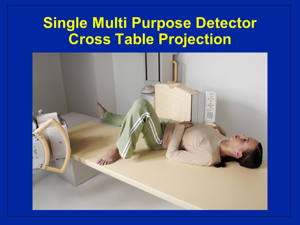 Single Multi Purpose Detector Cross Table Projection