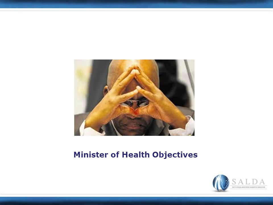 Minister of Health Objectives