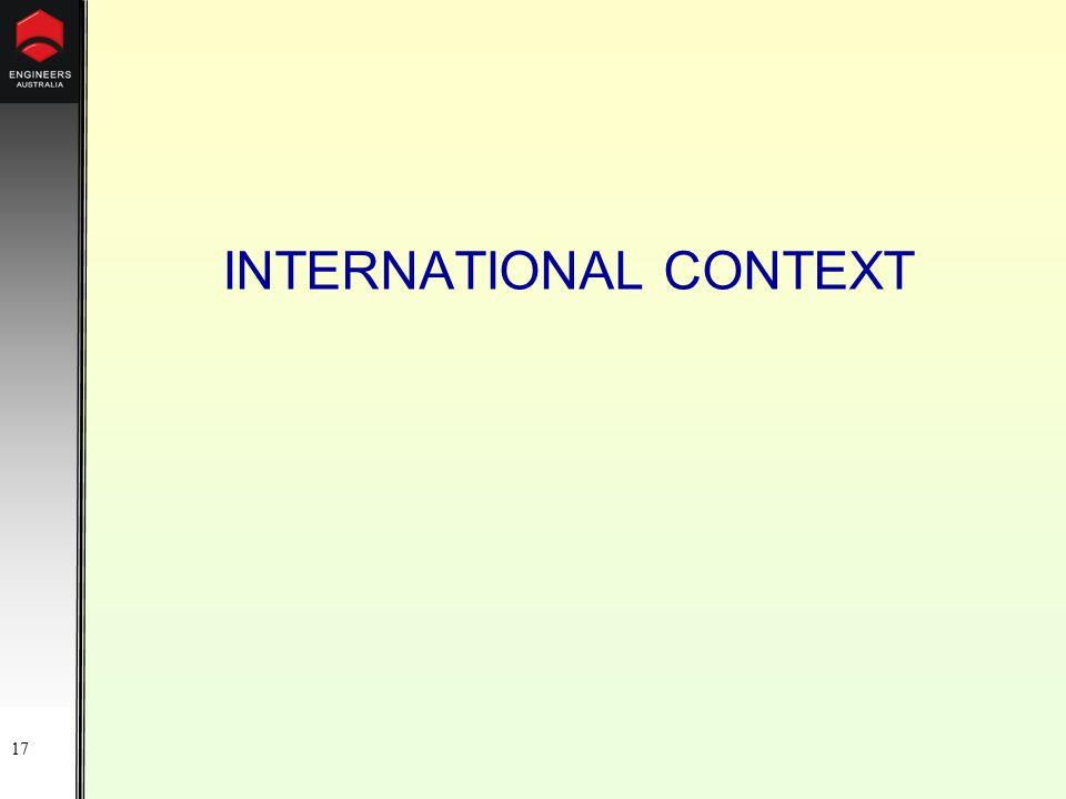 17 INTERNATIONAL CONTEXT