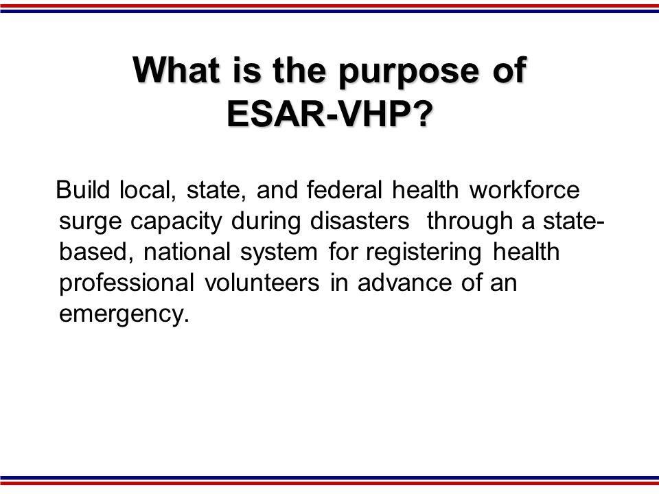How do we Utilized Volunteers? Public Health Emergencies Exercises Training Drills