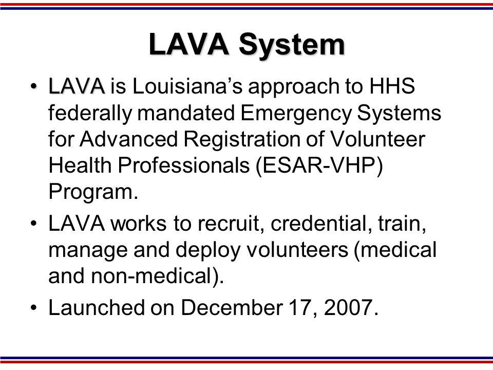 2007 Trust for American's Health Report Louisiana 332 MRC Volunteers Needed