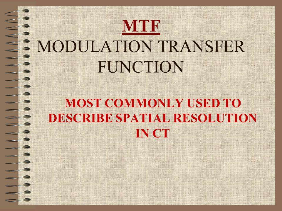 MTF MTF OF 1 – 100% TRANSFER OF OBJECT TO IMAGE MTF OF 0 – 0% TRANSFER OF OBJECT TO IMAGE