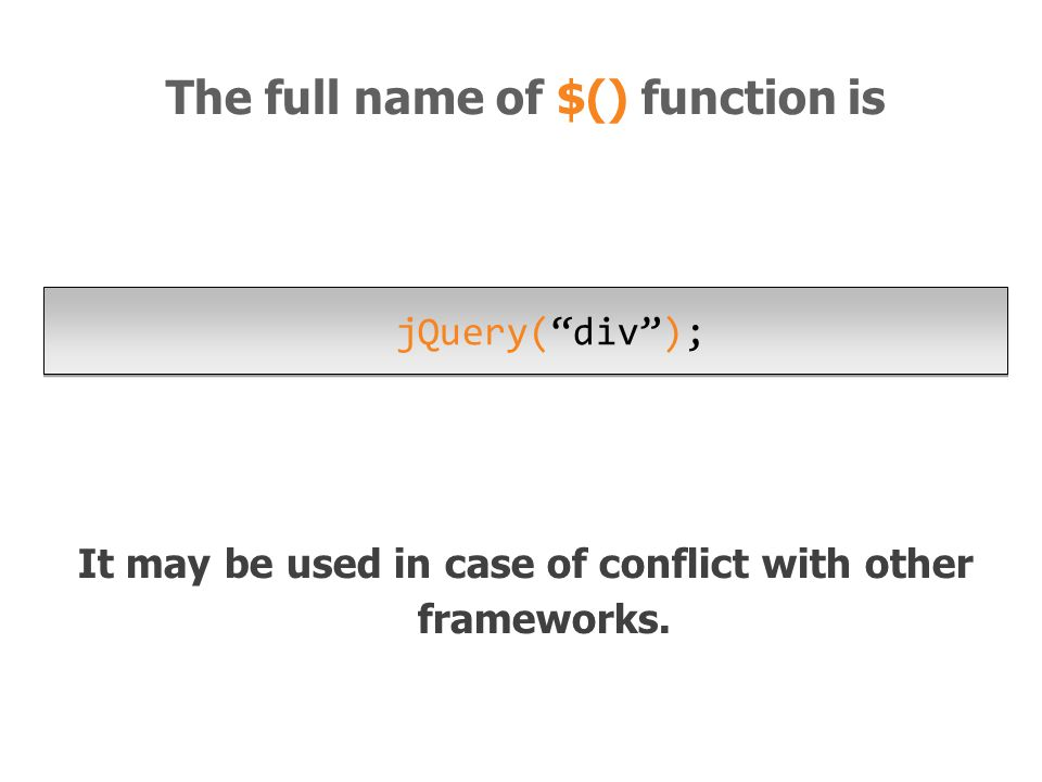 It may be used in case of conflict with other frameworks.