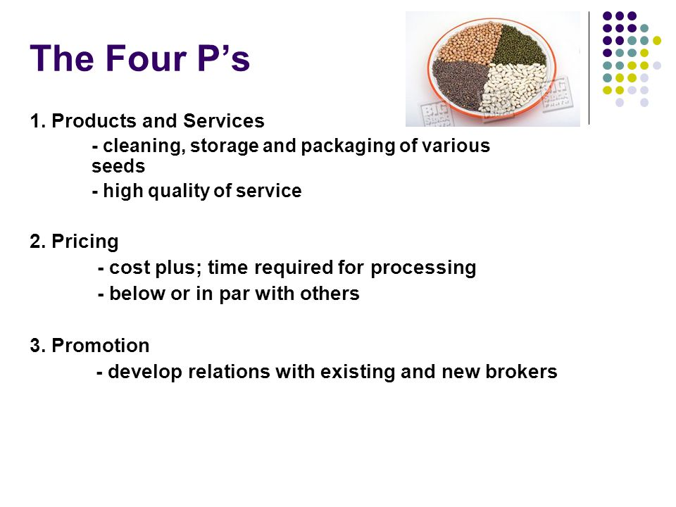 The Four P's 1.