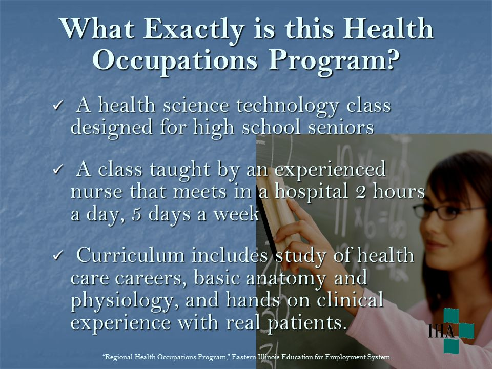 What Exactly is this Health Occupations Program.