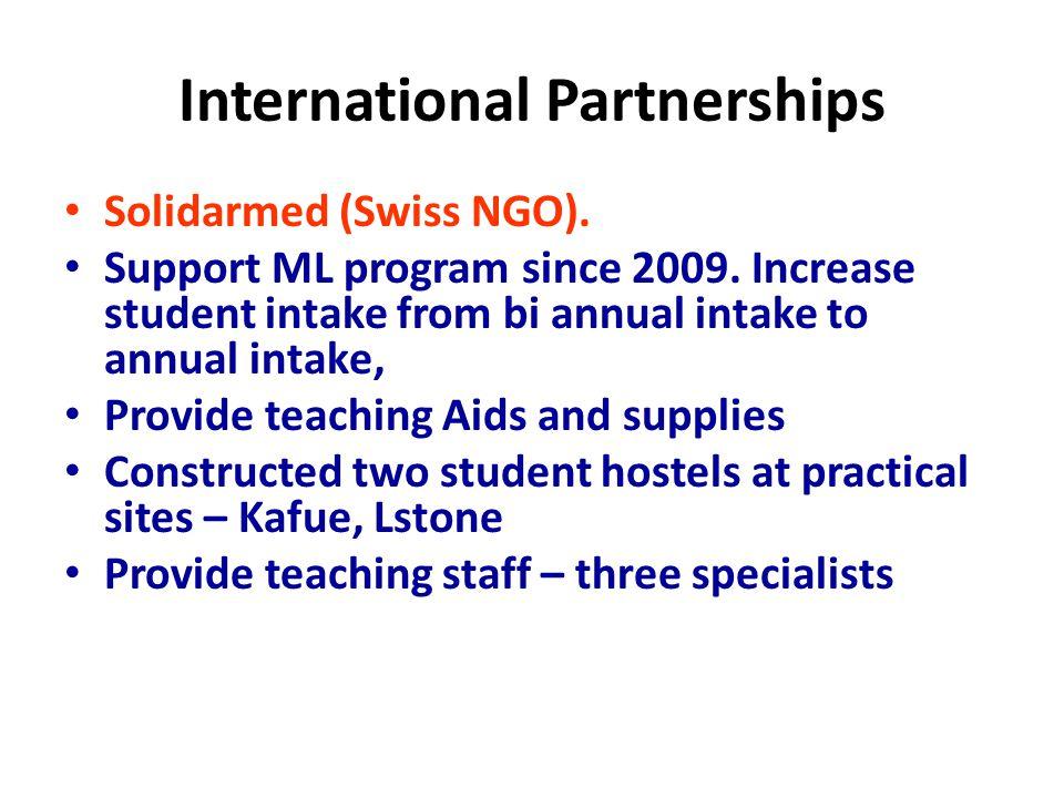 International Partnerships Solidarmed (Swiss NGO).