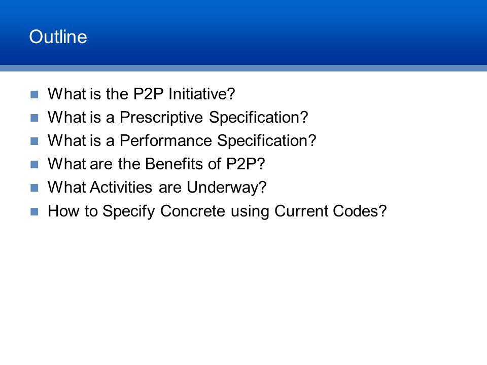 Prescriptive Specification Example w/c ratio = 0.40 Min.