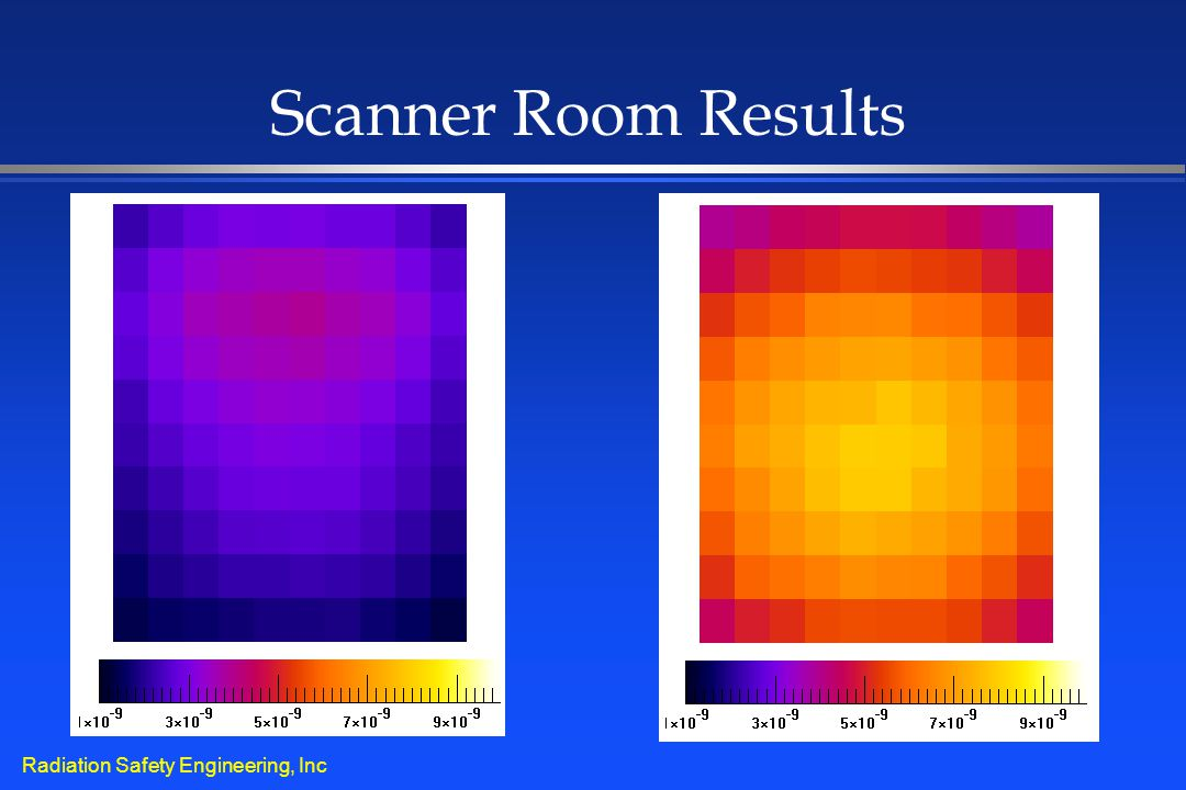 Radiation Safety Engineering, Inc Scanner Room Results