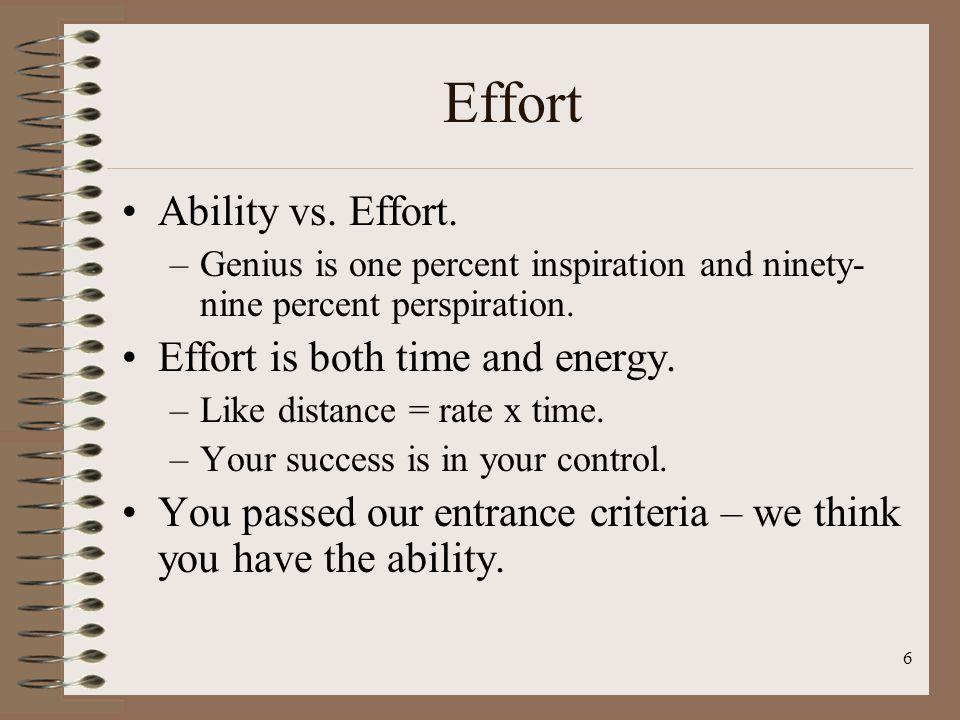 6 Effort Ability vs.Effort.