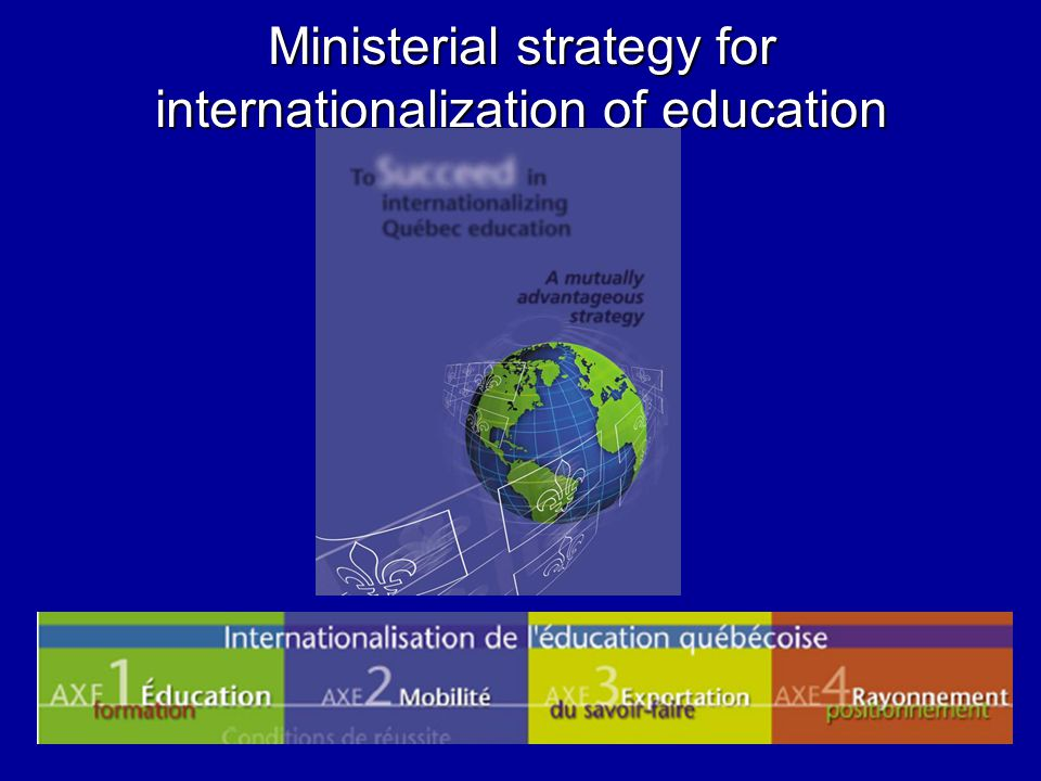 Ministerial strategy for internationalization of education