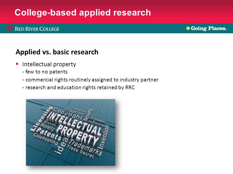 College-based applied research Applied vs.