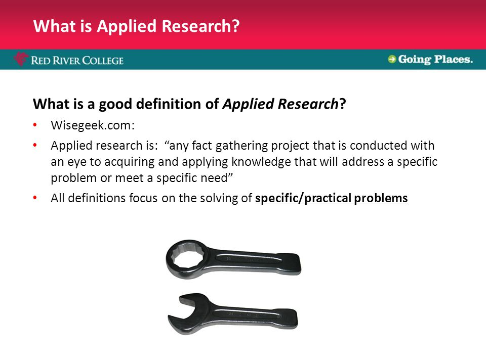 What is Applied Research. What is a good definition of Applied Research.