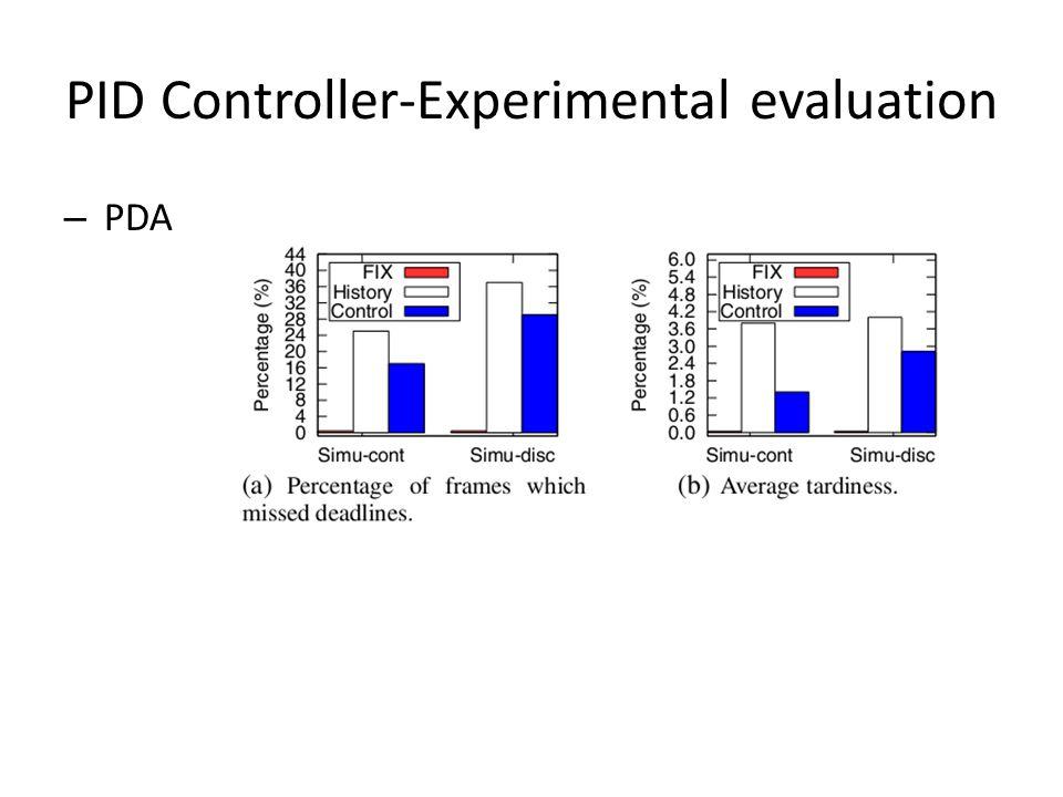 PID Controller-Experimental evaluation – PDA