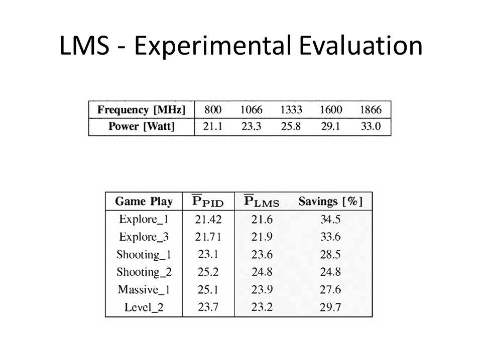 LMS - Experimental Evaluation