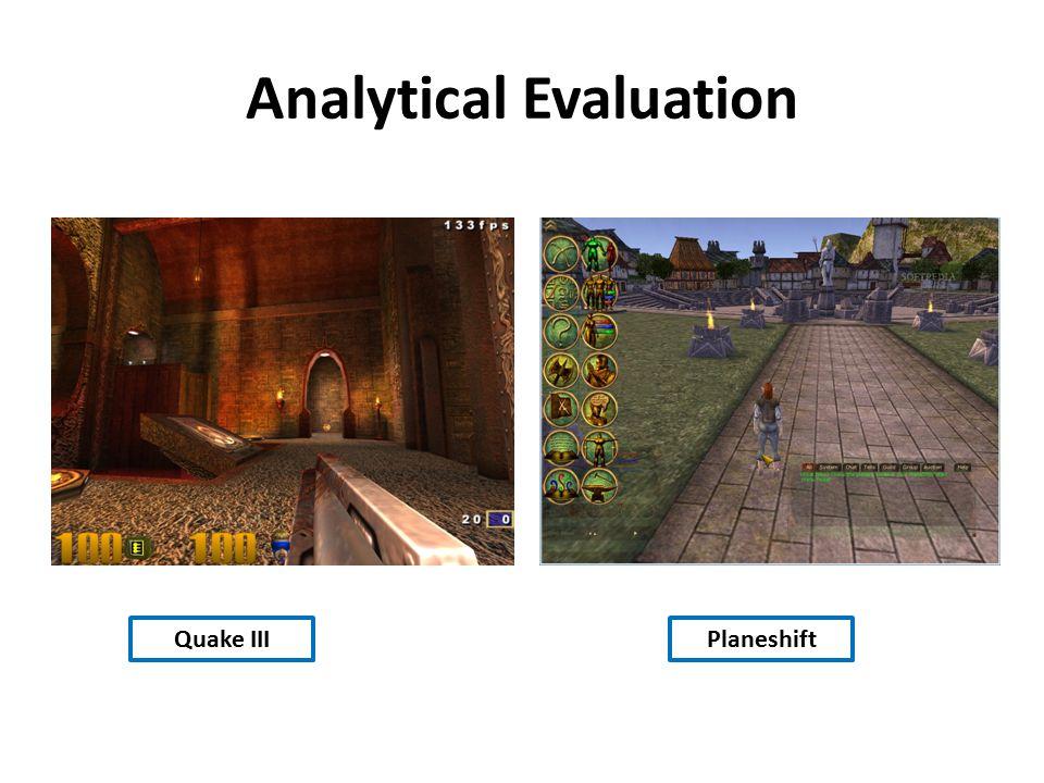 Analytical Evaluation Quake IIIPlaneshift