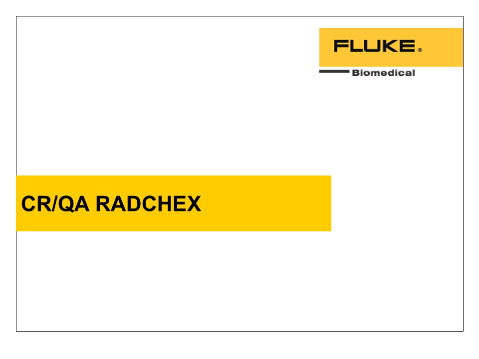 CR/QA RADCHEX