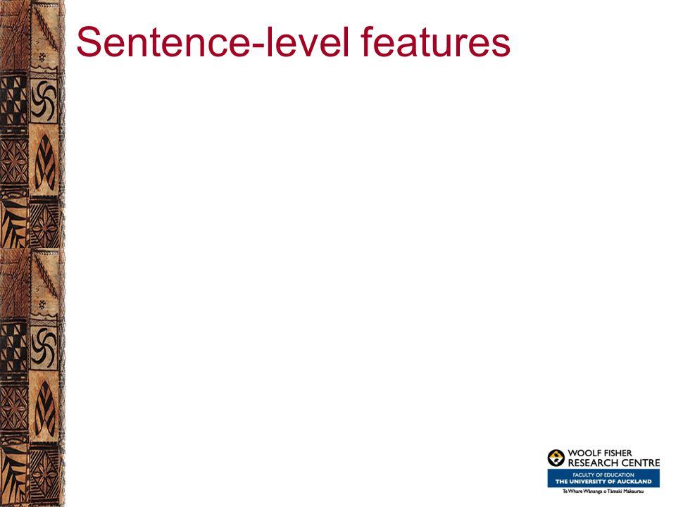 Sentence-level features