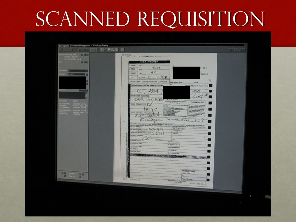 Scanned Requisition