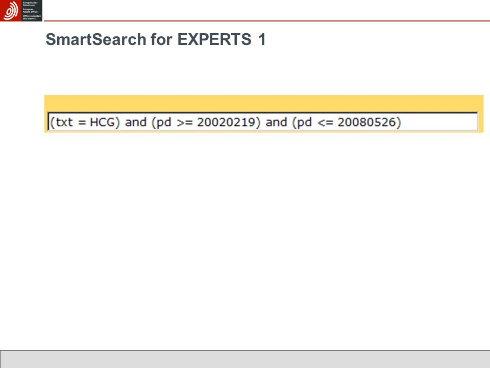 SmartSearch for EXPERTS 1