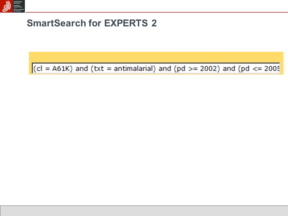 SmartSearch for EXPERTS 2