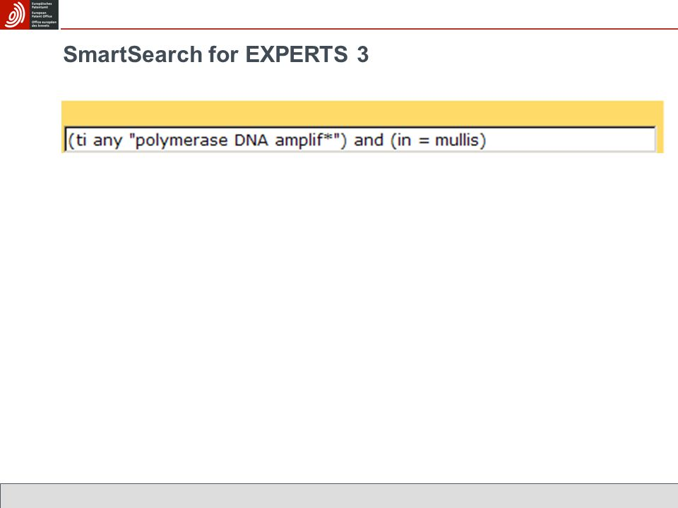 SmartSearch for EXPERTS 3