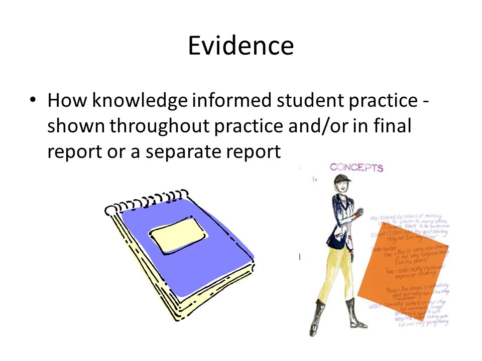 Excellence 2 or more outcomes/technologists' practice Details of key knowledge Compared underpinning knowledge – Selected aspects useful to own development Justified reasons why knowledge influenced own thinking Reflected, explained how and where acquired knowledge was used to inform student practice