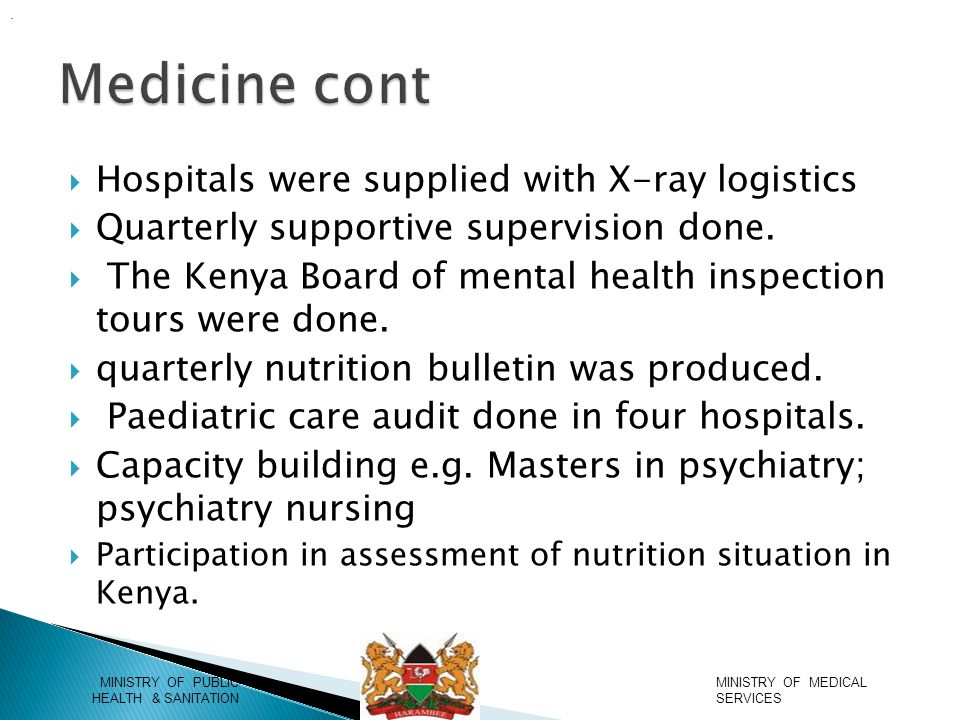  Hospitals were supplied with X-ray logistics  Quarterly supportive supervision done.