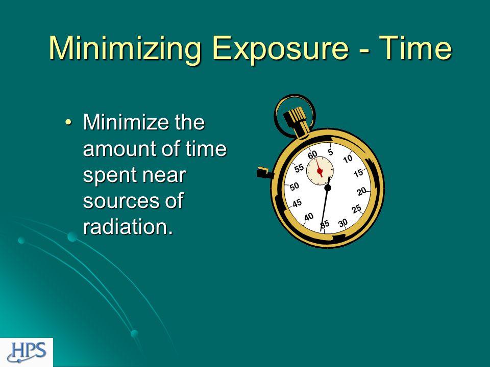 Minimizing Radiation Exposure Basic Concepts Time Time Distance Distance Shielding Shielding