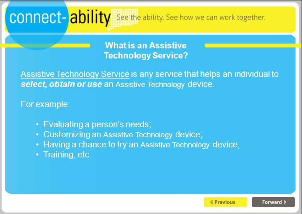 What is an Assistive Technology Service.