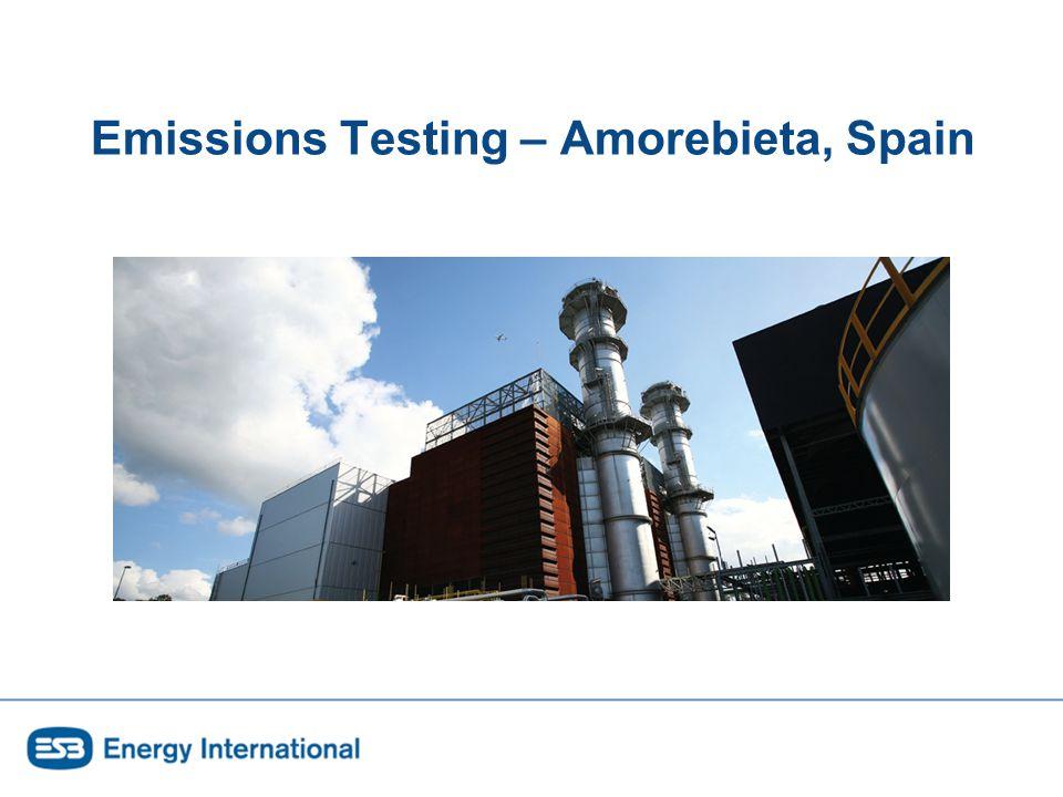 Emissions Testing – Amorebieta, Spain