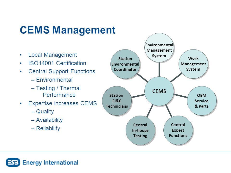CEMS Quality Assurance EN14181 EN14956 Manufacturer Operator / Test House