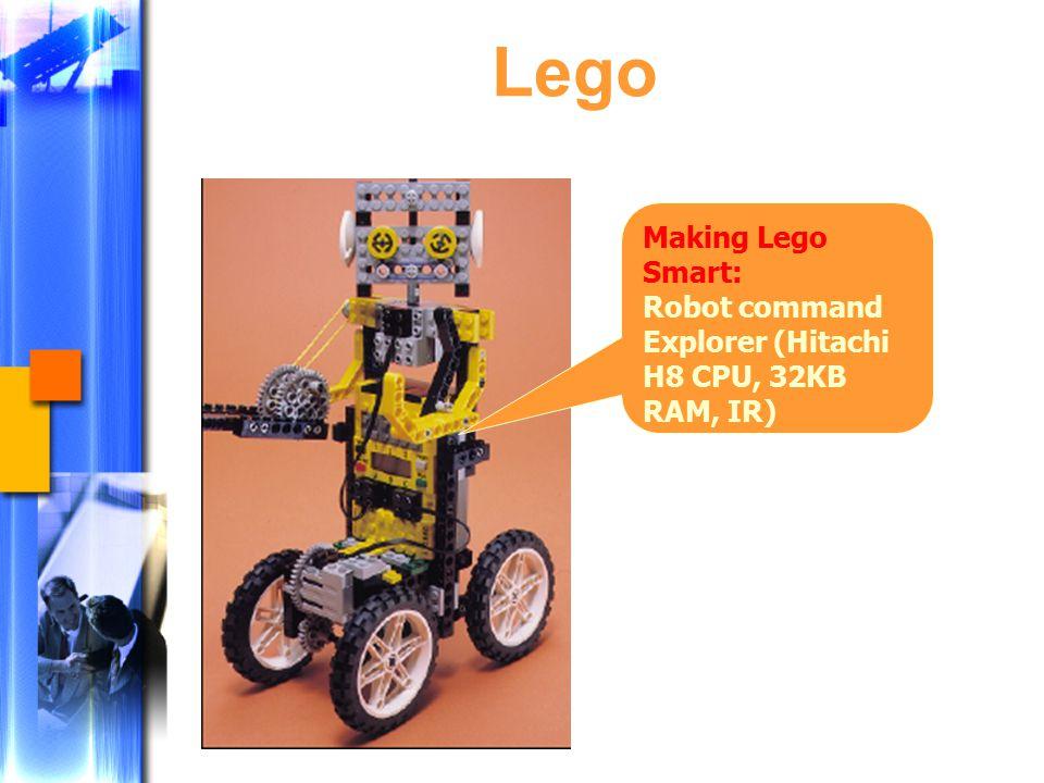 Lego Making Lego Smart: Robot command Explorer (Hitachi H8 CPU, 32KB RAM, IR)