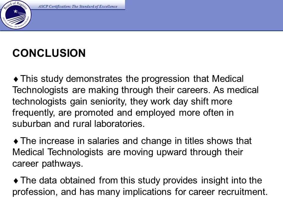 ASCP Certification: The Standard of Excellence > FIGURE 1: 2001 PROSPECTIVE STUDY