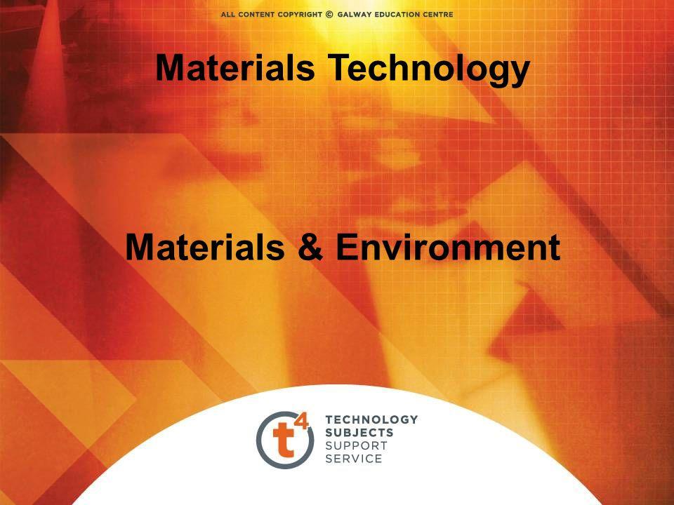Materials Technology Materials & Environment