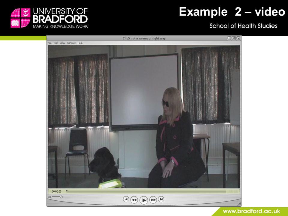 Example 2 – video