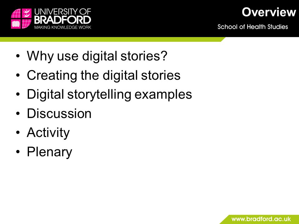 Background What is digital storytelling .