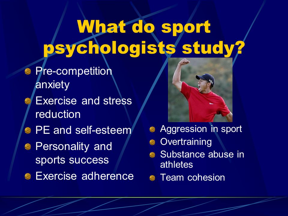 What do sport psychologists study.