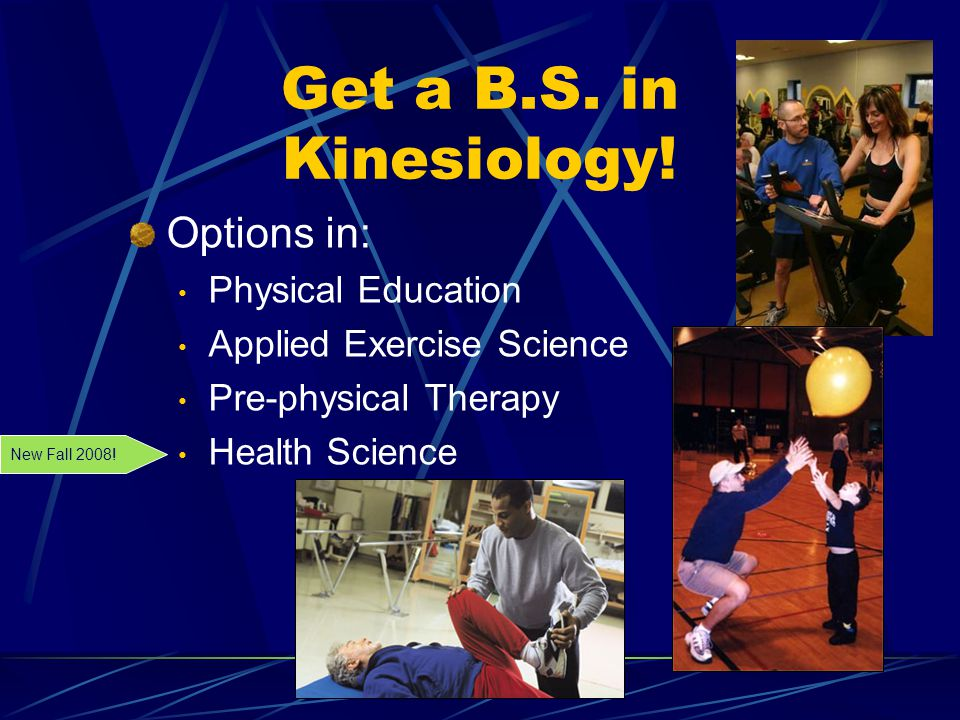 Get a B.S. in Kinesiology.