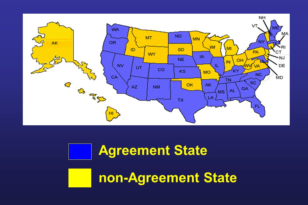 Agreement State non-Agreement State