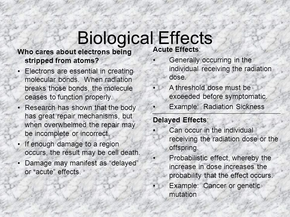 Biological Effects and Radiological Risk